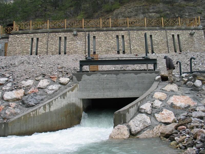 scarico acque centrale idroelettrica