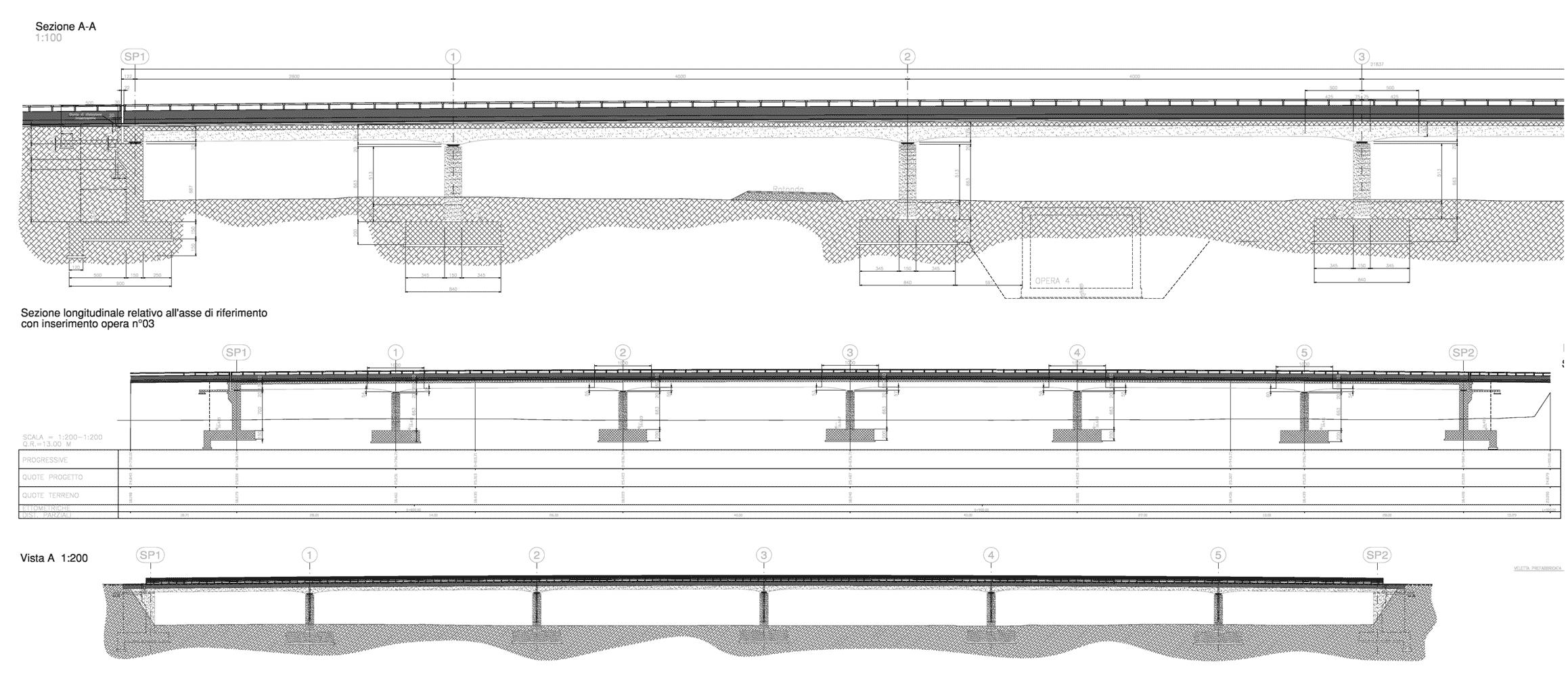 sezioni longitudinali viadotto