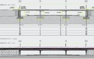 disegno progetto viadotto
