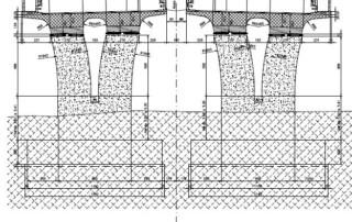 disegno sezioni tipo pile ponte