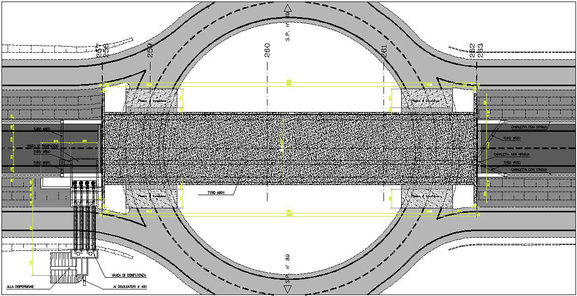 particolare progetto ponte sopra rotatoria
