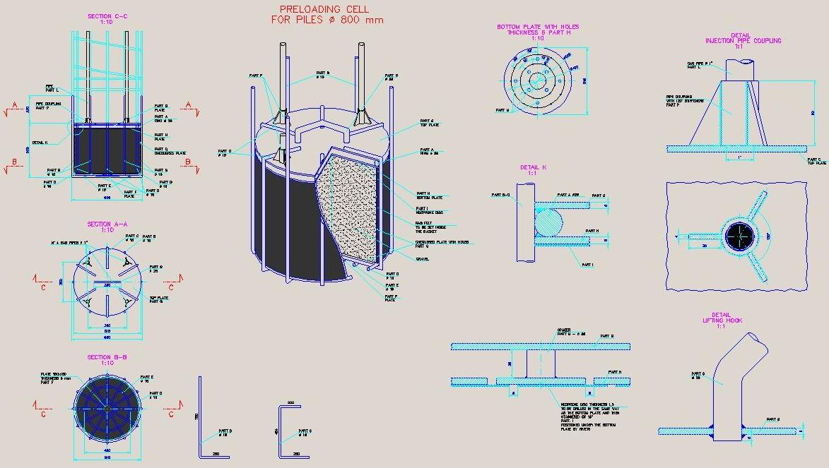 particolare plinti acciaieria Khouzestan Oxin Steel Company
