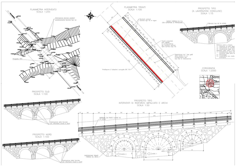 progetto consolidamento ponte