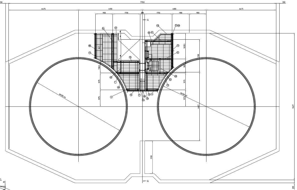 disegno progetto strutture centrale cogenerazione
