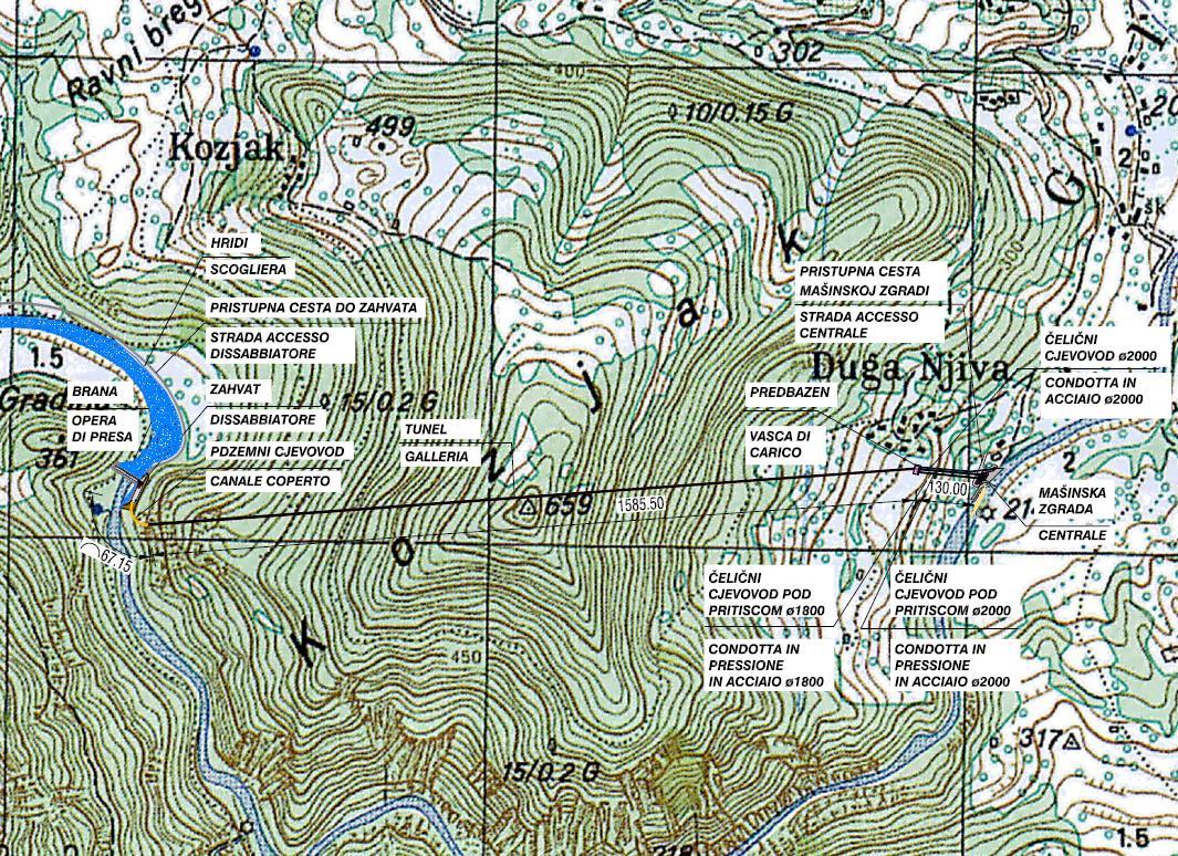 cartografia centrale idroelettrica MEDOS