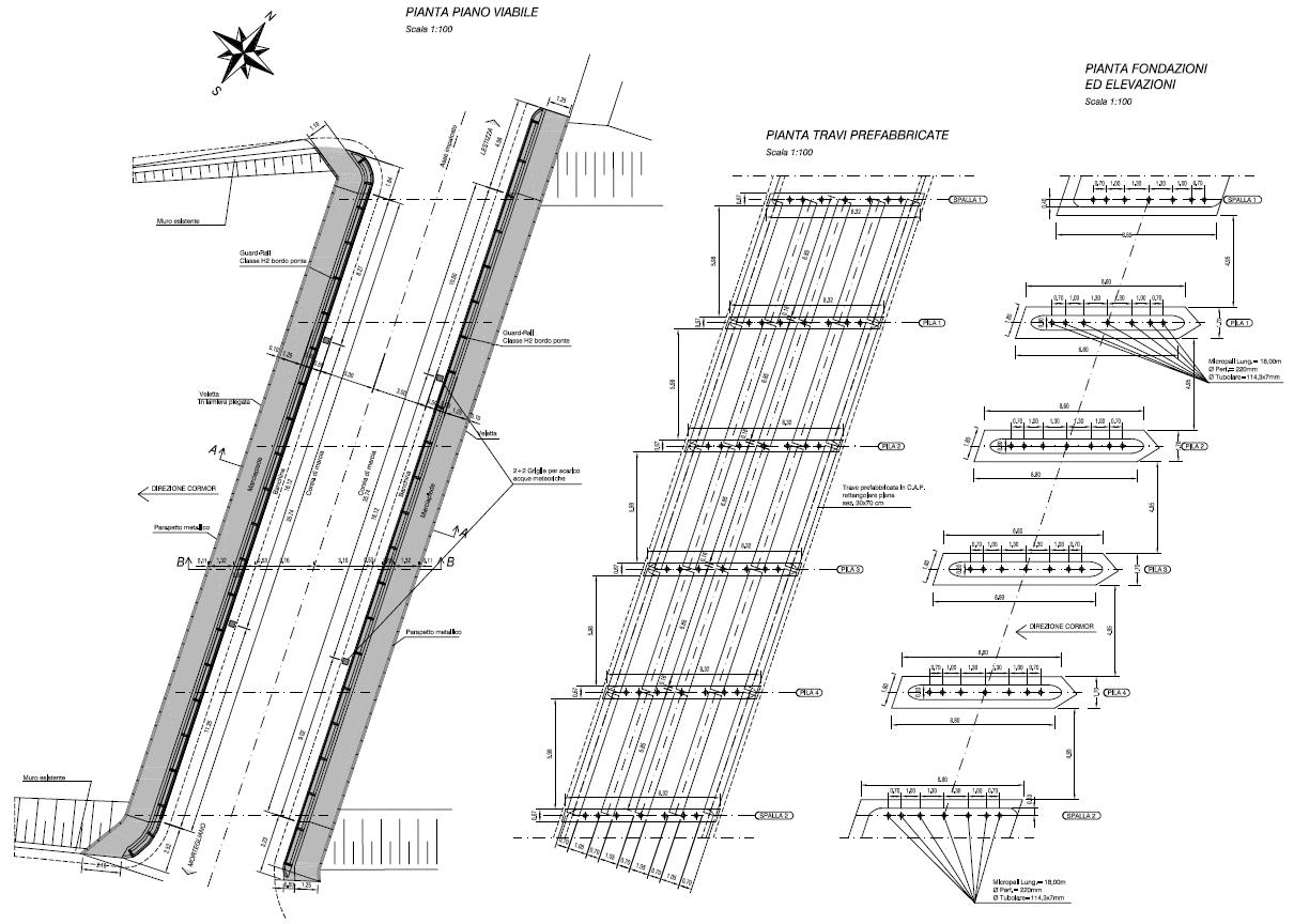 disegni progetto manutenzione ponte