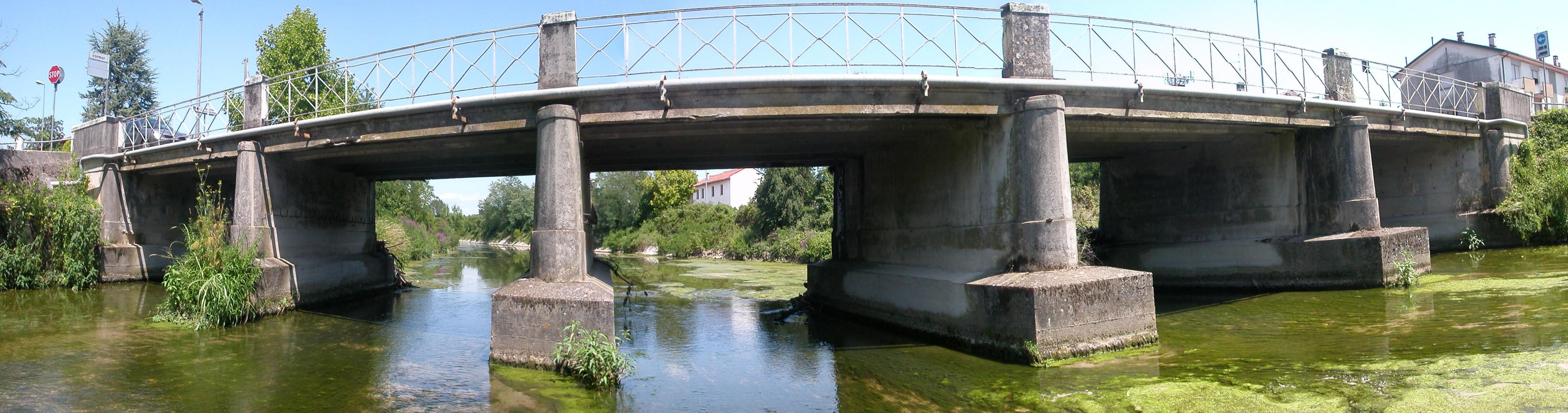 vista del ponte di Mortegliano sul Cormor