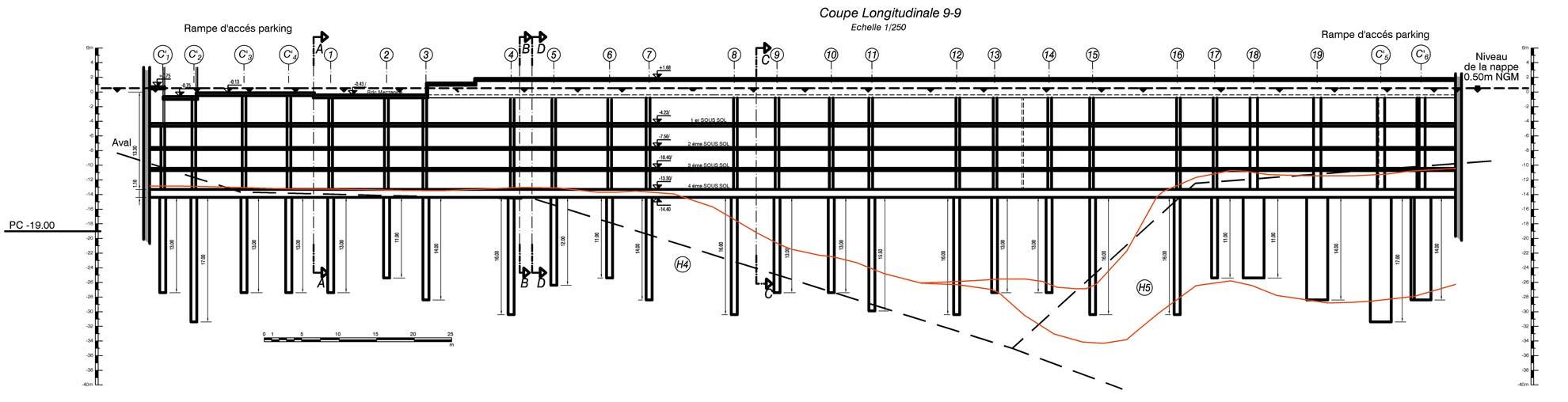 disegno sezione del progetto