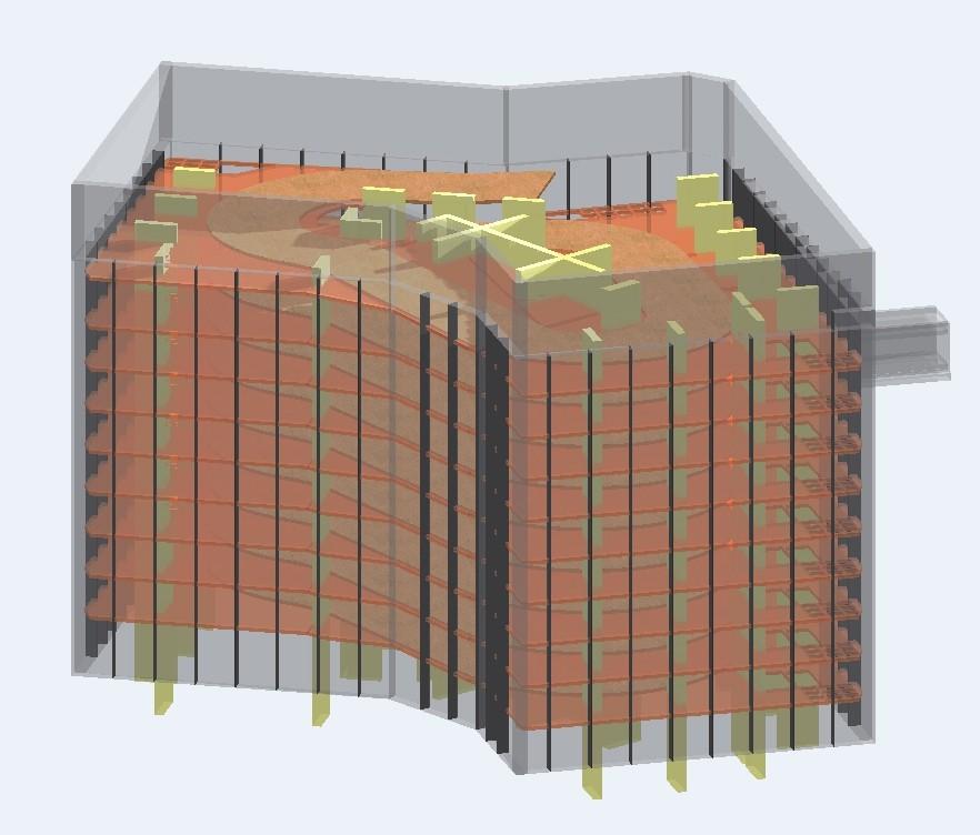 immfine tridimensionale del complesso Villa l'Engelin a Monaco