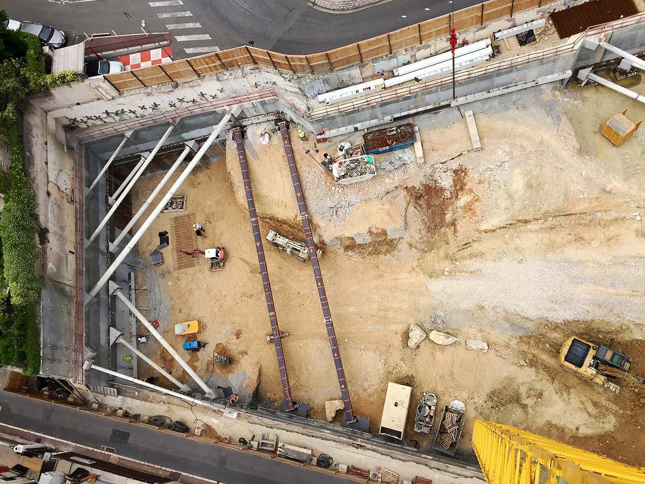 immagine del cantiere dall'alto