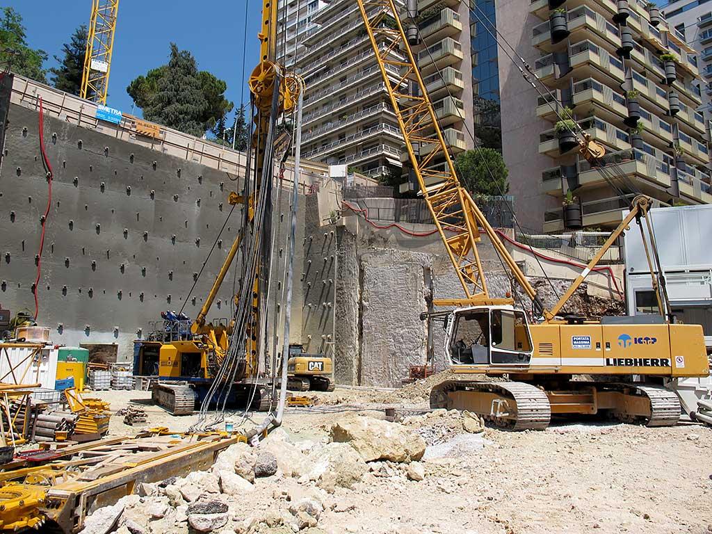 realizzazioni fondazioni per il complesso Villa l'Engelin a Monaco