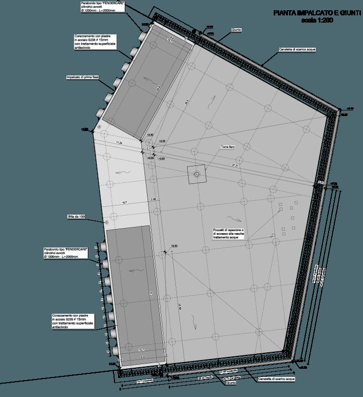 disegno progetto pianta banchina realizzata