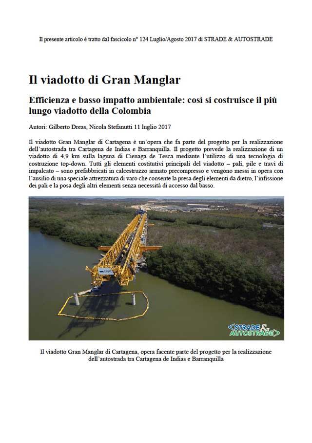 Articolo sul viadotto di Gran Manglar