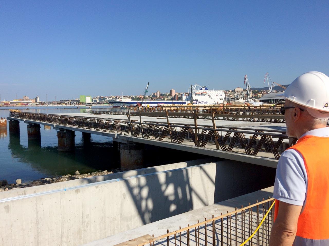 Lavori di realizzazione della Piattaforma logistica a Trieste